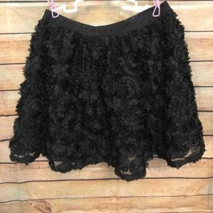 Place layered embellished skirt for girls